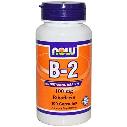 NOW Foods Vitamin B-2 (Riboflavin) 100 Kapseln / 100mg (2 Stück)