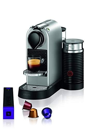 Krups XN761B Nespresso Citiz&Milk Kaffeekapselmaschine (1260 Watt, Wassertankkapazität: 1l, Pumpendruck: 19 Bar) silber