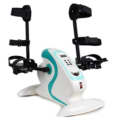 LOVEHOUGE Ejercitador De Pedal Eléctrico Bicicleta De Ejercicios Portátil para Ejercicios con Protector De Pierna,Entrenador De Bicicleta De Rehabilitación para Personas Mayores