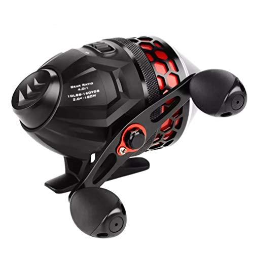 HDDFG Carrete de Pesca 4.0: 1 Relación de Engranaje 5 + 1 Rodamiento de Bolas 5 kg Bobina de Pesca de Arrastre máximo Carrete Spincast con línea de Pesca de 10LB