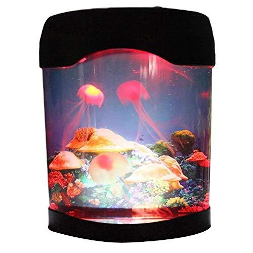 Kwallen nacht licht aquarium simulatie achtergrond gloeiende nachtlamp armatuur kunstmatige kwallen zwemmen tank kleur veranderende sfeer licht familie decoratie verjaardagscadeau