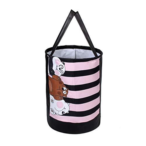 Wonder Cub Laundry Bag/Basket for Dirty Clothes, Folding Round Laundry Bag, Panda
