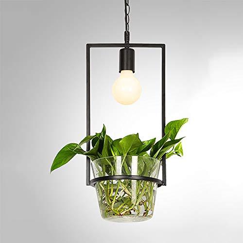 SELMAL Nordic planten hangend licht, creatieve glazen druppels hanglampen met groene plant bloempot voor eetkamer pastoraal kantoor boekenhandel groene decoratie