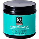 Perfect Keto Collagen Peptides Protein Powder with MCT Oil - Grassfed, GF, Multi Supplement, Best for Ketogenic Diets, Use as Keto Creamer, in Coffee and Shakes for Women & Men – Chocolate