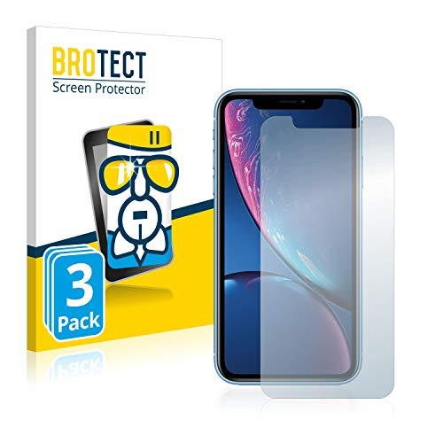 BROTECT Panzerglas Schutzfolie kompatibel mit iPhone XR / 11 (3 Stück) - AirGlass, extrem Kratzfest, Anti-Fingerprint, Ultra-transparent