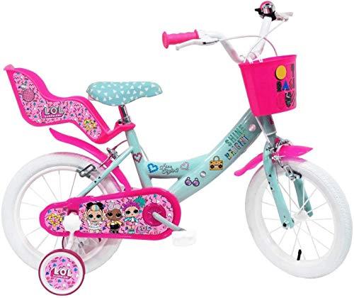 """Mondo SMB250, Vélo 14"""" LOL Surprise Mixte Enfant, Blanc, Taille #1.Value"""