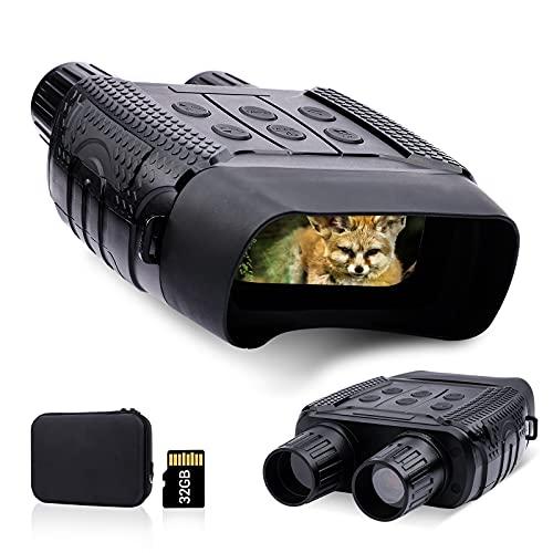 Jumelles de Vision Nocturne, caméra Infrarouge de Vision Nocturne 300M IR avec écran LCD TFT 2,31' pour la Chasse, avec Carte mémoire 32G