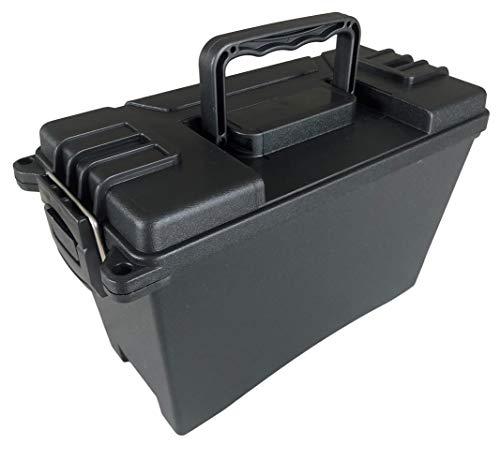 DARLINGTON & Sohns Munitionskiste Kunststoff Schwarz Munitionsbox Tragegriff Einklappbar Stapelbar Aufbewahrung