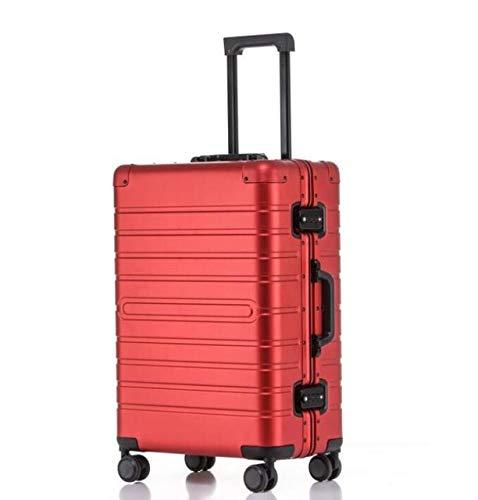Mdsfe Barato Maleta de Viaje de Aluminio 24'Spinner 20' Business Maleta Trolley con Ruedas - Rojo, 20'