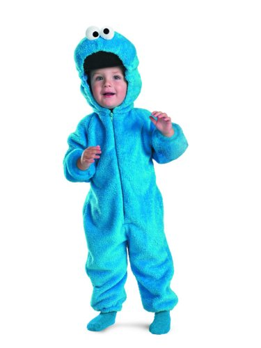 Sesame Street Cookie Monster Deluxe Two-Sided Plush Jumpsuit Costume (12-18 Months)