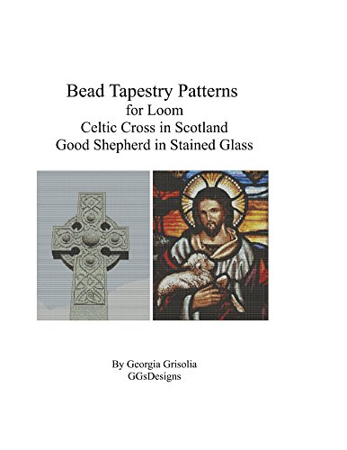 Bead Tapestry Patterns for Loom Celtic Cross and Good Shepherd stained