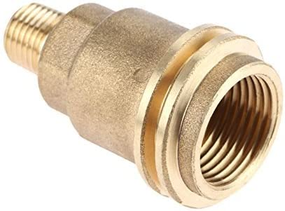 Mtsooning 2PCS 1 100% quality warranty! 4 Regular store Inch QCC1 Brass Hose Solid Acme Nut Propane