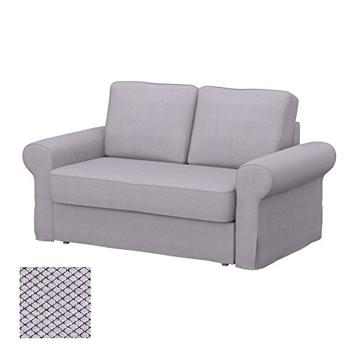 Soferia - IKEA BACKABRO Funda para sofá Cama de 2 plazas, Nordic Light Grey