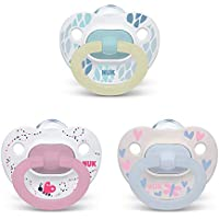 3-Pack NUK Orthodontic Pacifier Value Pack, Girl, 0-6 Months