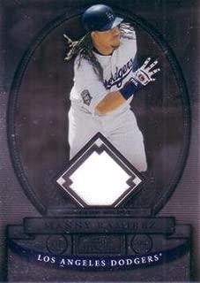 2008 Bowman Sterling Manny Ramirez Dodgers Game Worn Jersey Baseball Card