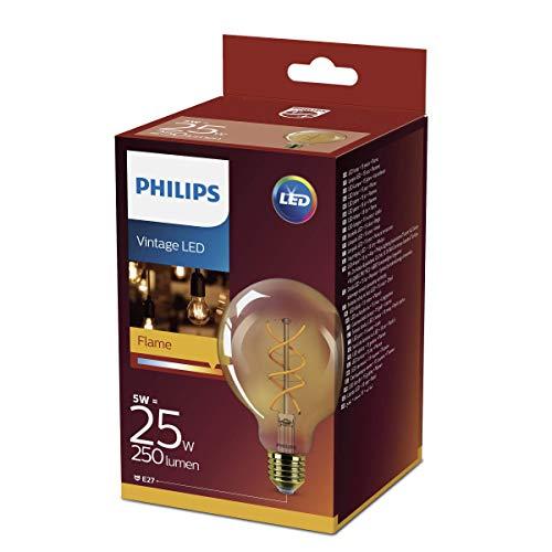 Philips Vintage Gold Lampadina LED, Attacco E27, 5 Watts, Bronzo, 9.5x9.5x14.2 cm