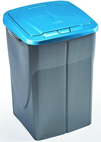 mondex Consumo PLS 8087-19 Roll Top-Cubo de Basura de Reciclaje de Cocina con Tapa de plástico 36 x 36,5 x 51 cm, 45 L, plástico, Bleu Tropic, 45 L
