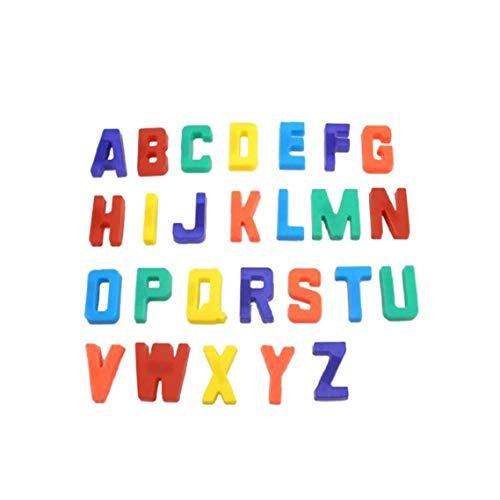 Sungpunet 26pcs Letras Magnéticas para El Refrigerador Aprendizaje Preescolar Educativo del Alfabeto Magnético para Niños