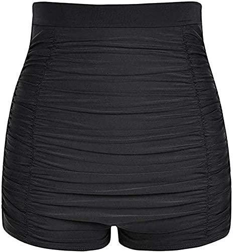 SACKDERTY Braguitas de Bikini de Cintura Alta de Talla Grande Calzoncillos de baño para Mujer Pantalones Cortos de Playa Pantalones Cortos de niño con Parte Inferior Fruncida Traje de baño p