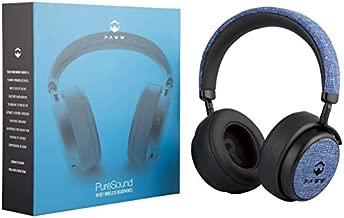 Paww PureSound Headphones - Over the Ear Bluetooth Fashion Headphones – Hi Fi Sound Quality Longer Playtime - For Calls Movies & More (Nautical Blue) (Renewed)