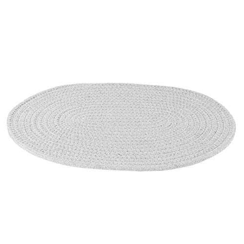 Vobor Mantel Individual para Mesa de Espesamiento Mantel Individual Resistente al Calor para Restaurante de Cocina(Gris Claro)