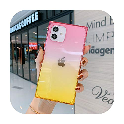Wukuli - Funda para iPhone 12 Pro 11 Pro Max X XR XS Max 7 8 Plus SE 2020 suave TPU silicona trasera cubierta - IU3681Y-para iPhone 11Pro Max