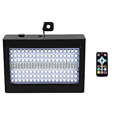 Party Strobe Light with 204 LED and Remote Control, softeen Sound Activated Stage Strobe Light with RGB and White Light Sources, Adjustable Flashing Speed and Strobing Modes (Breath/Jump/Gradual)