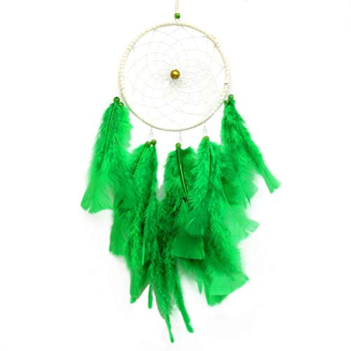 MEELLION Handmade Feather for Wall Hanging Decoration Wedding Decoration (Green) GYMJN