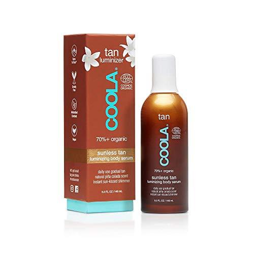 COOLA Organic Sunless Tan Luminizing Body Self Tanner Serum, Pina Colada, 5 Fl Oz
