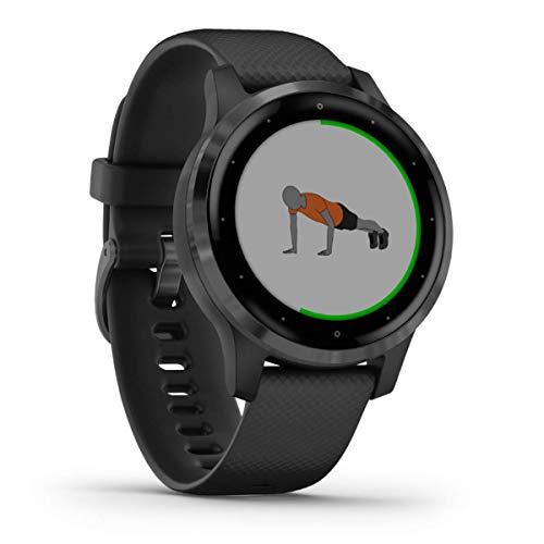Garmin vívoactive 4S – schlanke, wasserdichte GPS-Fitness-Smartwatch mit Trainingsplänen & animierten Übungen. Für schmale Handgelenke, 20 Sport-Apps, 7 Tage Akkulaufzeit, kontaktlos Bezahlen, Musik