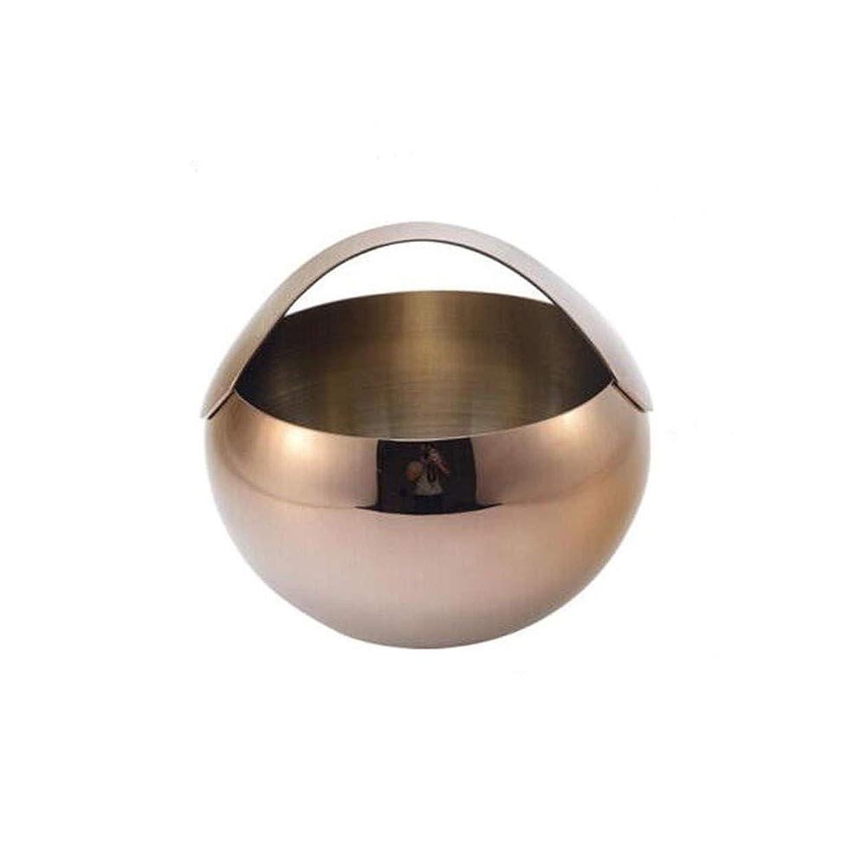 背が高い理容師ケントMEIYUFUZHUANG-A 等二層ポータブルアイスバケットのアイスキューブ、氷、水、冷たいビール、赤ワイン、3Lラウンドローズゴールド Ice bucket, dining and entertainment, home kitchen (Capacity : 3L, Color : Gold)