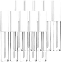 KEAIYYJ 10ml/0.34 oz Empty Plastic Lip Gloss Packaging Tubes with Wand Reusable Bottle Container White Top for DIY Lip Refillable Makeup 10 Pack