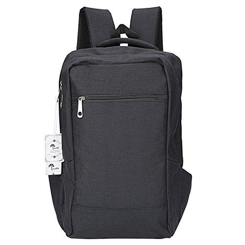 Winblo - Mochila para portátil (15,6 pulgadas, ligera, para viajes, 15,6 pulgadas), color negro