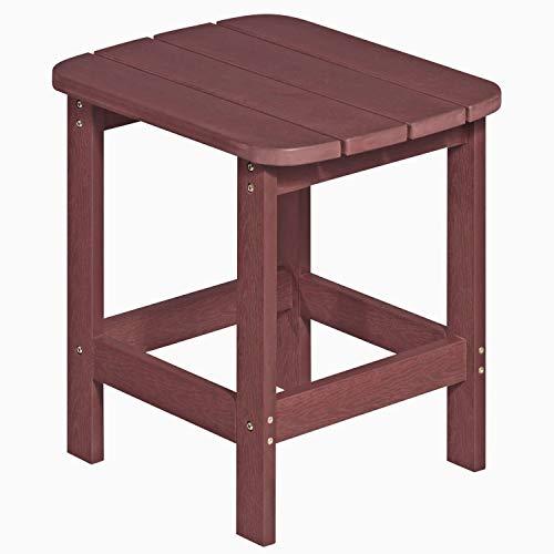 NEG Design Adirondack Tisch Marcy (rot-braun bis 01/2016) Westport-Table/Beistelltisch aus Polywood-Kunststoff (Holzoptik, wetterfest, UV- und farbbeständig)