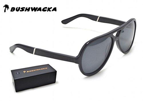 BUSHWACKA hemel gepolariseerde vlieger handgemaakte zonnebril van hout designer-zonnebril hout zonnebril
