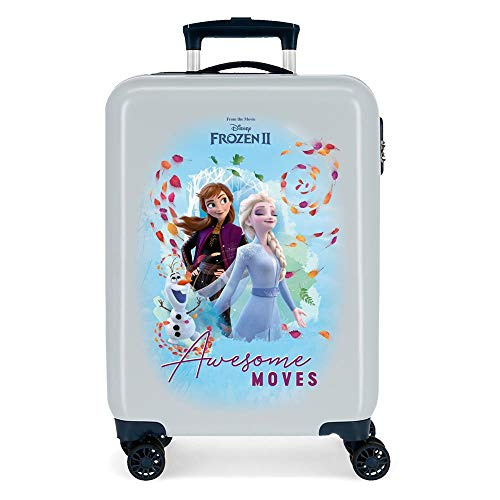 Disney Frozen Awesome Moves Blue Cabin Suitcase 38x55x20 cm Rigid ABS Combination lock 34 Litre 2.6 Kg 4 Double Wheels Hand Luggage