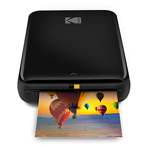 Kodak Step Wireless Photo Printer 2x3 Sticky-Back ZINK Paper for Bluetooth or NFC Devices (Black) Sticker Edition