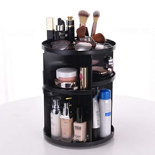 ZHWDD Organisateur de Maquillage Rotatif - Plateau réglable Rotatif à 360 degrés pour Le Toner, Les crèmes, Les pinceaux de Toilette, Les Rouges à lèvres et Plus adaptés aux cosmétiques