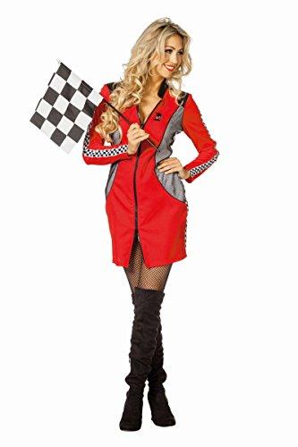 Damen Kostüm Rennfahrer Boxenluder Karneval Fasching Gr.40