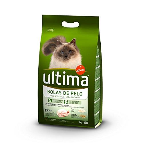 Ultima Cibo per Gatti Sterilizzati con Controlle delle Palline di Pelo con Tacchino - 3 kg