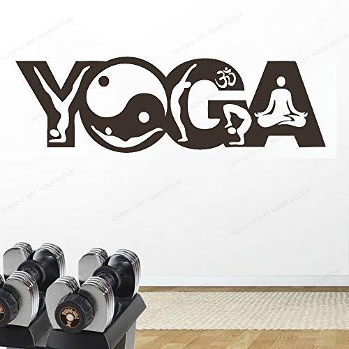 wukongsun Wandaufkleber Buddha Yoga Haltung Meditation Vinyl Aufkleber entfernbare wandaufkleber Schlafzimmer Yoga raumdekoration 102 cm x 36 cm