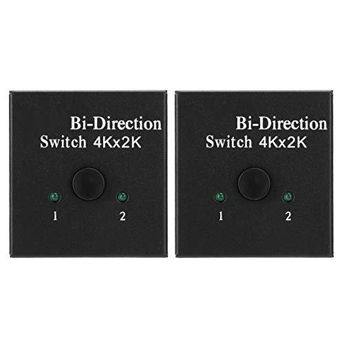 Cuifati Interruptor bidireccional Convertidor 4Kx2K 2PCS Hub Plug and Play