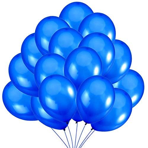 Jonami 50 Luftballons Blau Ballons Premiumqualität 36 cm Partyballon Deko 3,2g. Dekoration für Dunkelblau Party, Geburtstag , Baby Shower, Baby Dusche