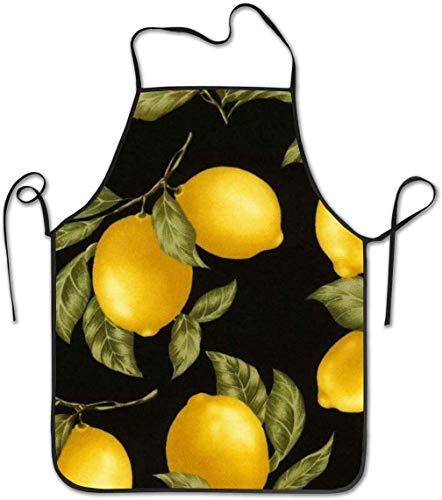 Delantal de limones para mujeres y hombres, chef duradero y creativo Pinafore