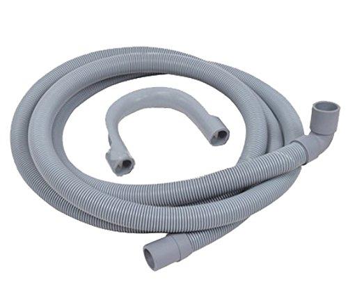 SPARES2GO universale Tubo di scarico con angolo retto Fine per lavatrici (2.5m 19mm / 21mm)