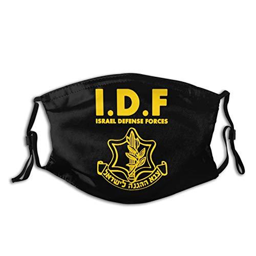 IDF Israeli Defense Force Logo Masks Outdoor Adjustable Dust Mouth Mask Reusable with Filter for Women's & Men's Black