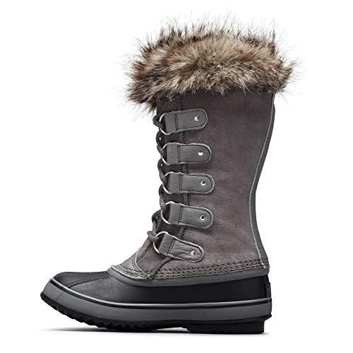SOREL Women's Joan of Arctic Boot — Quarry, Black — Waterproof Suede Snow Boots — Size 10.5