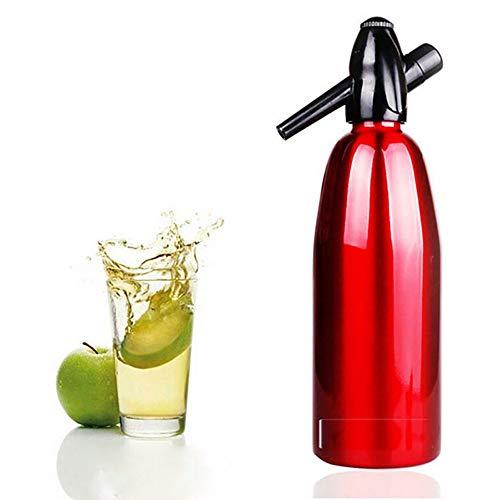 Sifón de soda, el fabricante de agua mineral con gas Self-Made saludable Velocidad en el agua el metabolismo de prevención de insolación,Rojo