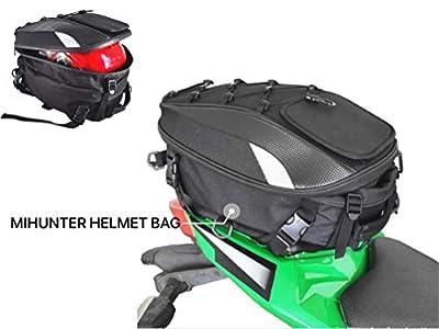 Motorcycle Tail Bag, Seat Bag, Dual Use Motorcycle Waterproof Helmet Bag for Motorbike Full Face Helmet, Motorcycle Saddle Bags