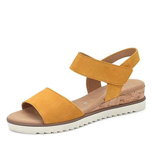 Gabor Shoes Damen Comfort Sport Riemchensandalen, Gelb (Mango (Kork/Creme) 22), 39 EU